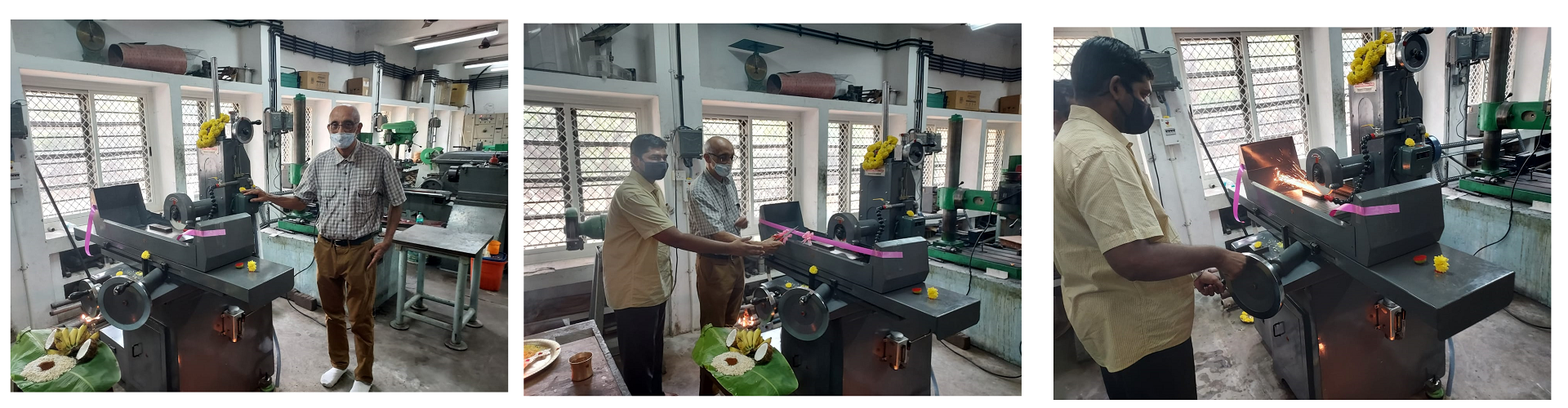 Surface grinding M/C commissioning ceremony in CHL Workshop